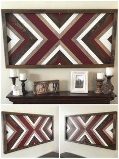 SALE Reclaimed wood wall art wood decor wall decor rustic