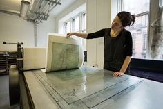 Glasgow Print Studio is a printmaking facility providing equipment, machinery and workshop space to artists using fine art printmaking.