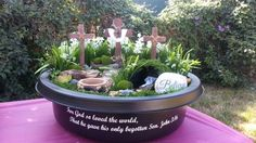 A Jesus' Resurrection Garden, uploaded by Mario Lacey Easy Easter Crafts, Easter Projects, Easter Garden, Holiday Day, Garden Whimsy, Sunday School Crafts, Easter Celebration, Easter Holidays, Jesus Resurrection