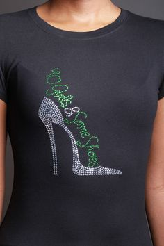 40 GIRLS AND SOME SHOES (GREEN HEEL)