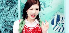 This is a gif of Joy Park from the Kpop girl band Red Velvet. Kpop Girl Groups, Kpop Girls, Kpop Girl Bands, Red Velvet Joy, Park Sooyoung, Girls Generation, Cute, Heart, Women