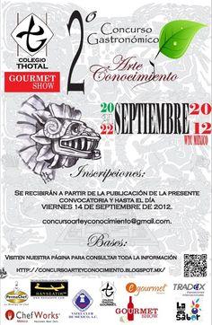 2do. Concurso Gastronómico  Arte y Conocimiento / 20-22 Septiembre 2012
