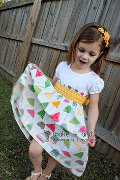 repurpose a teeshirt to make this gorgeous party dress for a little girl