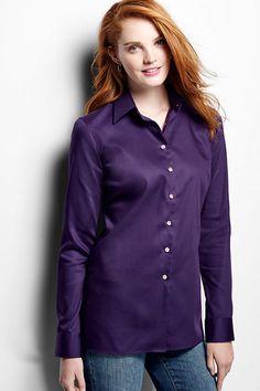 0eb728ccdd626 Women s Long Sleeve Performance Twill Shirt from Lands  End Twill Shirt