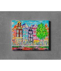 Print on canvas Amsterdam CA.003 Amsterdam Souvenirs, Modern Art, Modern Design, Canvas Prints, Art Prints, Online Painting, Online Gallery, Design Art, Original Paintings