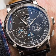 Probably everyone's @alangesoehne Datograph Perpetual Calendar Tourbillon Chronograph (what a name!) - pic via @ablogtowatch by watchfeed from Instagram http://ift.tt/1S7Pv96