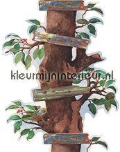 Brothers & Sisters IV BT2858B van York Wallcoverings klimboom behang bij kleurmijninterieur.nl
