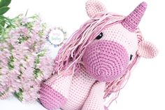 Beautiful pink unicorn, an ideal gift for girls. This stuffed unicorn is crocheted with cotton wool, and the amigurumi technique. His hair is a soft rainbow color. It is a perfect toy for any child, or nursery decor. Crochet Baby Toys, Crochet Hats, Stuffed Unicorn, Blogger Themes, Gifts For Girls, Rainbow Colors, Nursery Decor, Child, Wool