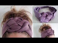Turbante- bincha trenzada/Accesorio para cabello - YouTube Mode Turban, Hair Turban, Turban Headband Tutorial, Diy Headband, Baby Sewing Projects, Sewing Tutorials, Coin Couture, Hat Patterns To Sew, Hand Embroidery Videos