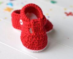 Sandalias de bebé ganchillo patrón bebé zapatos por matildasmeadow