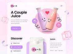 Shake by Cosmin Capitanu on Dribbble Drink App, Custom Website Design, Brand Guide, Landing Page Design, Site Web, Interface Design, Web Design Inspiration, App Design, Mobile App