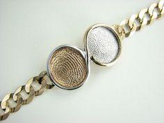 Finger print bracelet