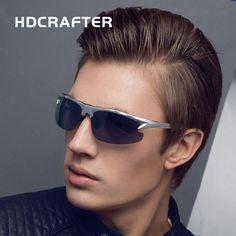 HDCRAFTE  Aluminum Magnesium Sunglasses Brand New Designer Fashion  Oculos Male  Polarized  Driving Sports Men Sun Glasses