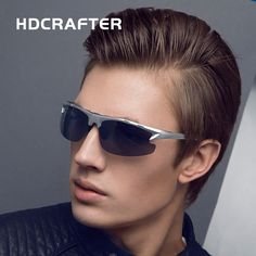 HDCRAFTE  Aluminum Magnesium Sunglasses Brand New Designer Fashion  Oculos Male  Polarized  Driving Sports Men Sun Glasses