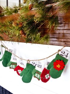 What do you do when you have a bunch of unmatchable mittens? #holiday #advent #decorating
