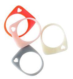 Perspex Wedge Round Rings - miami