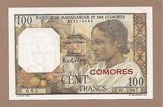 Comoros 100 Francs Banknote UNC P 3B 1960 No Reserve | eBay