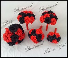 Paper flower wedding set