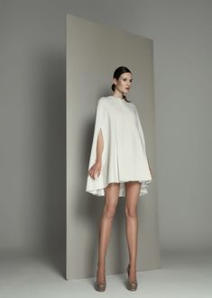 Minimalist Wool Cape | Kamila Gawronska Kasperska | NOT JUST A LABEL