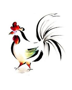 Cypress Fine Art Licensing Chicken Tattoo, Chicken Drawing, Chicken Painting, Chicken Art, Rooster Painting, Rooster Art, Rooster Tattoo, Chickens And Roosters, Whimsical Art