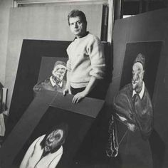 Francis Bacon in his studio, 1960 by Cecil Beaton.