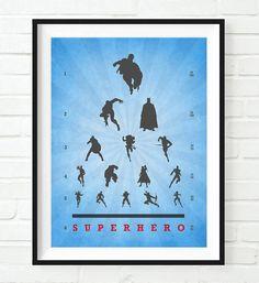 I Am Batman, Marvel Dc Comics, Comic Book Characters, Comic Character, Superhero Memes, Hero Time, Eye Chart, Poster Prints, Art Prints