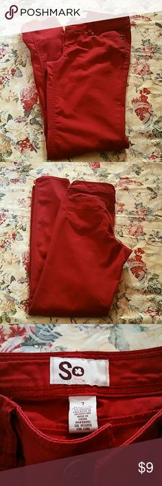 RED SKINNY JEANS Worn once. Great condition. SO Pants Skinny