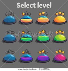 Kết quả hình ảnh cho game ui choose level