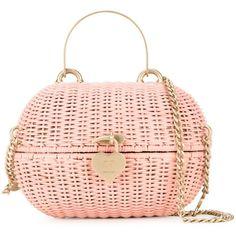 Chanel Vintage Round Basket Crossbody Bag (26.140 BRL) ❤ liked on Polyvore featuring bags, handbags, shoulder bags, purses, chanel shoulder bag, crossbody shoulder bag, purse crossbody, chanel purse and cross-body handbag