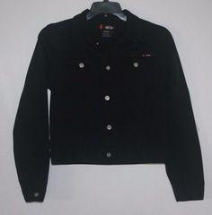 Bongo Denim Jean Jacket Black Large 100% Cotton L #Bongo #JeanJacket #ebay