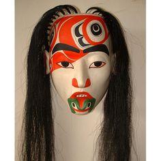 Masks - Glen Rabena, Northwest Coast Native Artist. Shaman with Frog Helper.