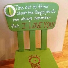 I'm making a timeout chair for the B's this week. Loving all these ideas!