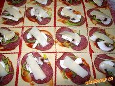 Slané rohlíčky z jogurtového těsta Caprese Salad, Sushi, Pizza, Ethnic Recipes, Hampers, Alcohol, Insalata Caprese, Sushi Rolls