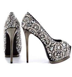 The Romi Heels by ZiGi Black Label are Unashamedly Embellished #holiday #heels trendhunter.com