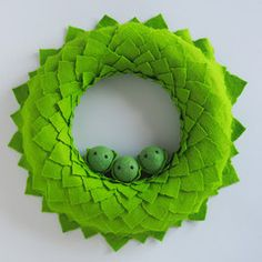 Large Christmas Sprout Wreath - So cute. Might have to buy one of these. Creative Business, Sprouts, Personalized Gifts, Unique Gifts, Goodies, Wreaths, How To Make, Christmas, Handmade