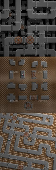 Pipes Pixel Pack - Tilesets Game Assets