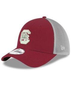 New Era South Carolina Gamecocks Mesh Back Gray Neo 39THIRTY Cap - Red L/XL