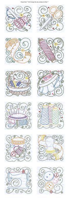 Bloques de coser del bordado Detalles de diseño de la máquina