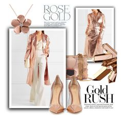 """Rose Gold"" by samketina ❤ liked on Polyvore featuring Lanvin, Jimmy Choo, Gianvito Rossi and Allurez"