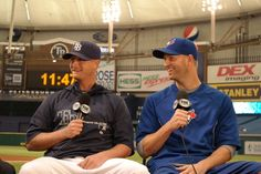The Rays Alex Cobb & the Blue Jays JA Happ bond over beanings....both which happened at Tropicana Field.
