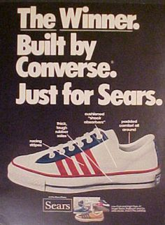 582b44d9a57 1974 Converse Winner Mens High-Tops Tennis Shoes Just For Sears Trade Print  AD