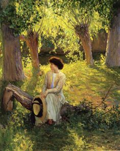 Guy Rose, Warm Afternoon, 1910.    One of my favorite paintings.  Very lush and dreamy.