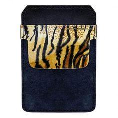 DekoPokit™ Leather Bottle Opener Pocket Protector w/ Designer Flap -  Tiger Print