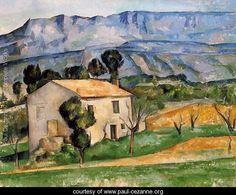 Houses In Provence  Near Gardanne - Paul Cezanne - www.paul-cezanne.org