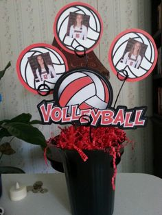 Centerpiece for volleyball banquet.