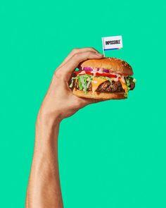 Food Graphic Design, Food Design, Burger, Easy Dinner Recipes, Easy Meals, Vegan Fast Food, Photo Food, Food Porn, Food Advertising