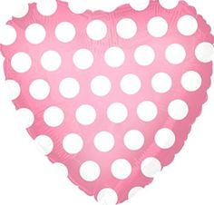 "Custom, Fun & Cool {Big Large 18"" Inch} 1 Unit of Helium & Air Latex Rubber Balloons w/ Modern Heart Shaped Polka Dot Party Design [Light Pink & White] mySimple Products http://www.amazon.com/dp/B017RP3GF6/ref=cm_sw_r_pi_dp_AYC8wb13KW2MD"