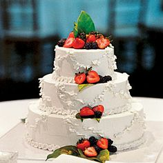 Uniquely Southern Wedding Cakes | Berry Wedding Cake | SouthernLiving.com