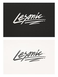 Lesonic logo for a future DJ project based in the UK. Rolling brush script