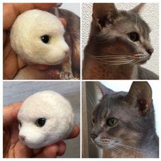 Needle Felted Animals, Felt Animals, Needle Felting, Kawaii Plush, Felt Cat, Wool Felt, Cats And Kittens, Dolls, Projects
